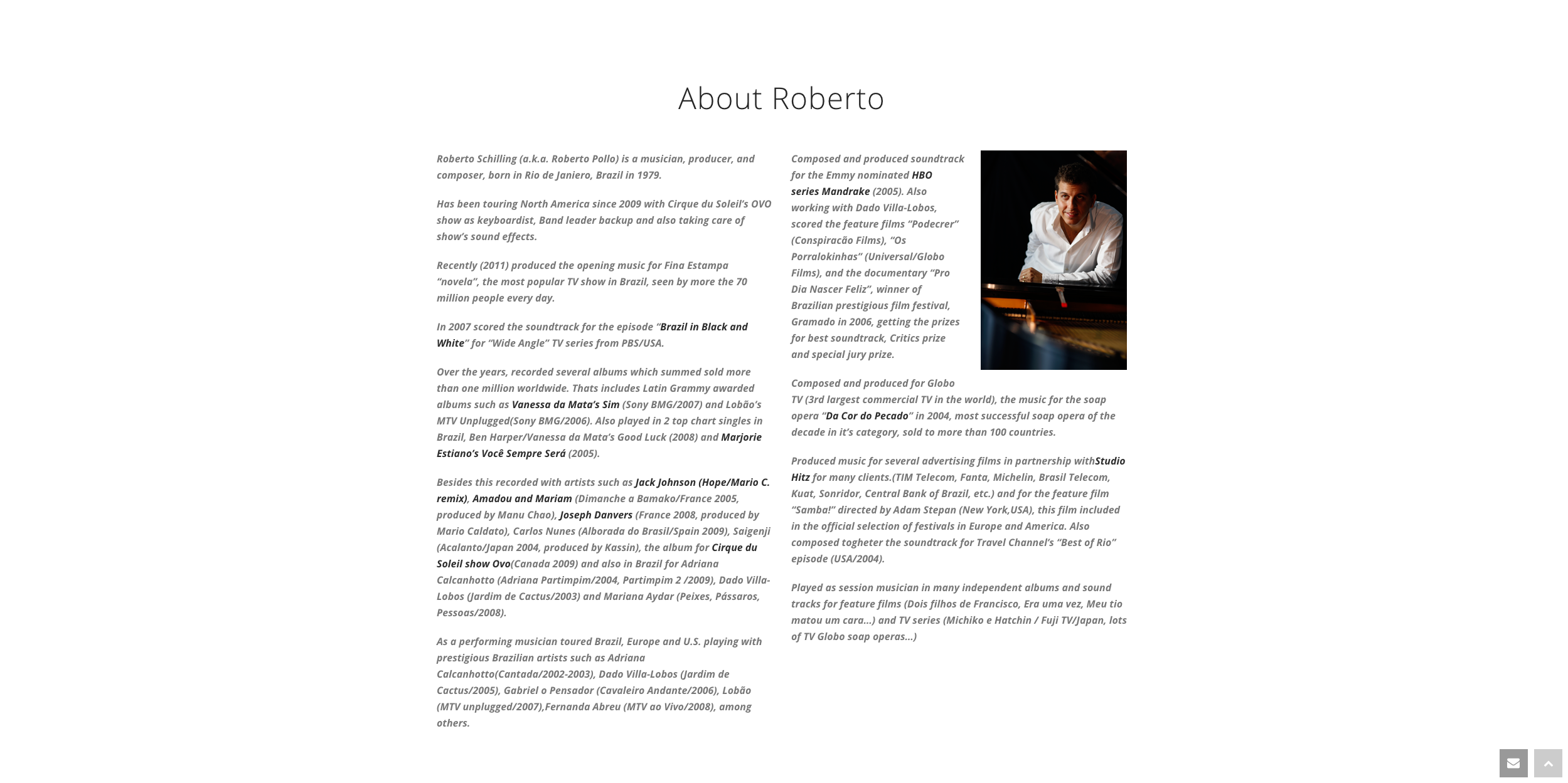 Roberto Schilling – About